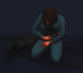 Dogmeat and the Vault Dweller by Hubristhegentlesnake