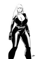 Black Widow sketch by OneSheepArmy