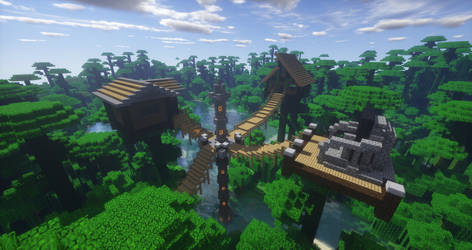 Minecraft: Jungle Treehouse by ShafroPlaysMinecraft