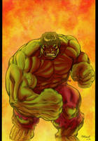 HULK in FIRE !!! by Andre-VAZ
