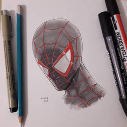 Spiderman (Miles Morales)  by Andre-VAZ