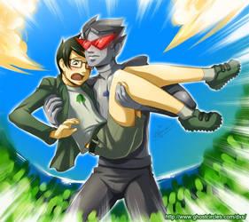 Jake and Robo Bro by amegoddess