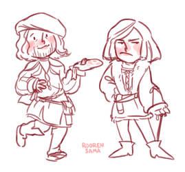 Leonardo and Salai by RoorenSama