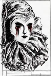 crying blood by DearFallingAngel