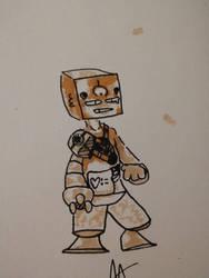 weird robot guy by mr678