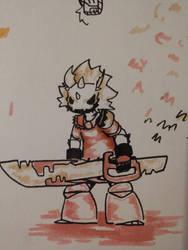 mean warrior guy  by mr678