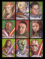 Star Wars Galactic Files Sketch Cards from Topps 3 by LeeLightfoot