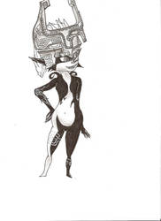 Uncolored Midna by lordoftuft