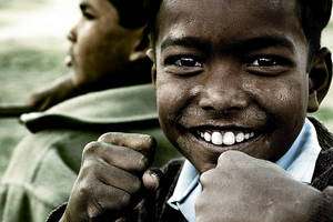 With a fist and a smile by gilad