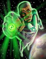 Green Lantern: John Stewart by ArtistAbe