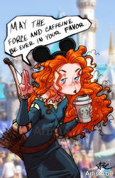 Merida: May the Caffeine Be Ever in Your Favor by ArtistAbe