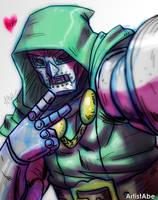 Doctor Doom selfie by ArtistAbe