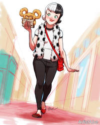 Cruella De Vil Disneybound by ArtistAbe