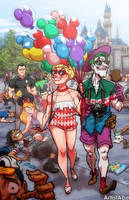 Harley and Joker Happiest Place On Earth by ArtistAbe
