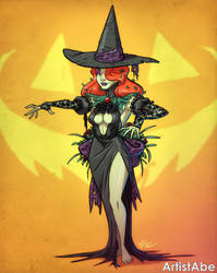 Halloween Poison Ivy Witch by ArtistAbe