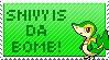 Snivy Stamp by Katscreations8675