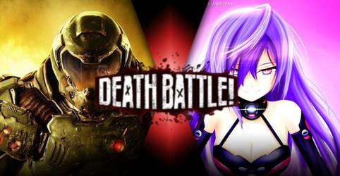 Doom Guy vs Iris Heart by kekeevrex008