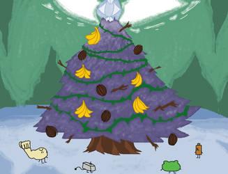 FAT Challenge 4 - Monkey Jake Christmas by AwesomecatmanDA