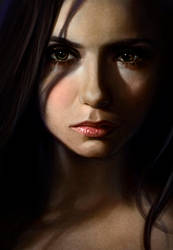Nina Dobrev colored by fekb