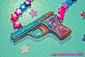 Cosmic Galaxy Glitter Gun by squeekaboo
