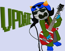 Nepeta strumming out the Alarm by CptNameless