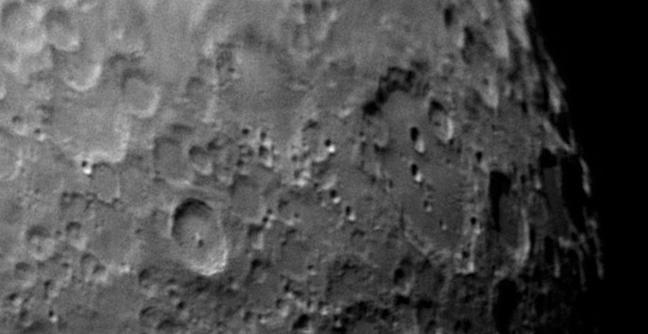 Moon closeup over South Germany