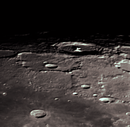 Moon craters closeups in January 2019 over Germany