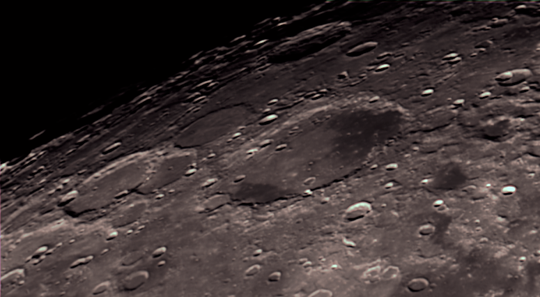 Moon craters closeup