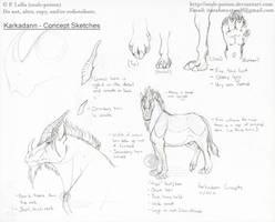 Karkadann - Concept Sketches by soulspoison