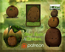 Kiwi Fruit Stickers (Patreon Sponsored) by soulspoison