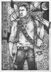 Nathan Drake (bic pen drawing) by Pen-Tacular-Artist