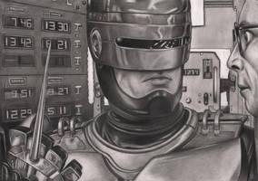 Robocop Graphite Drawing by Pen-Tacular-Artist