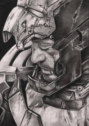 Robert Downey JR 'Iron Man 3' graphite drawing by Pen-Tacular-Artist