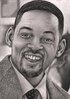 'Will Smith' graphite portrait by Pen-Tacular-Artist