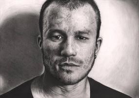 'Heath Ledger' Graphite portrait by Pen-Tacular-Artist