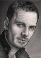 'Micheal Fassbender' portrait by Pen-Tacular-Artist