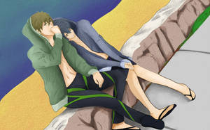 MakoHaru: At the Beach by ototobo