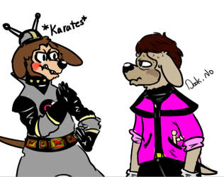 Dook and Dingo Doodle by rockafiremonkees