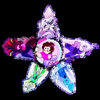 (FOR SALE) Crystal Gems Star Design by SpadesArts