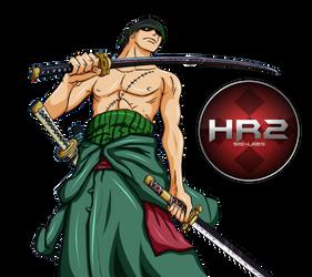 Zoro #1 Render by HR2 by haloreach2