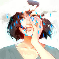 im not crying its just raining by zephy0