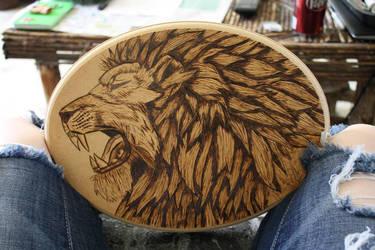 Roar for Cecil Wood Burning by BlueDaisy767