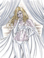 Emma Frost - The White Queen - Commission 3 by John-Stinsman