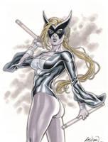 The Avengers' Mockingbird Comission 01 by John-Stinsman