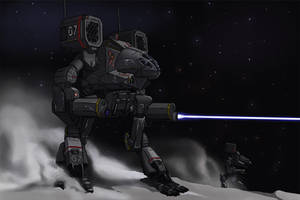 Battletech - Hunting Wolves... by AzureChris