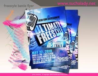 Freestyle Battle Flyer by thatladyj