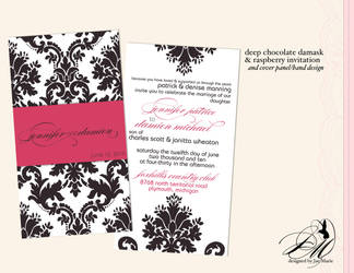 Choc-berry Damask Wedding by thatladyj