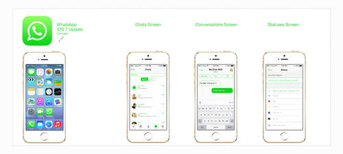 Concept - What'sapp iOS 7 Style by iBrushART