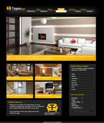 TopesART - Website For Imaginary Furnitures Shop by iBrushART