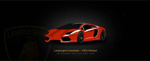My Best Design - Lamborghini Aventador by iBrushART